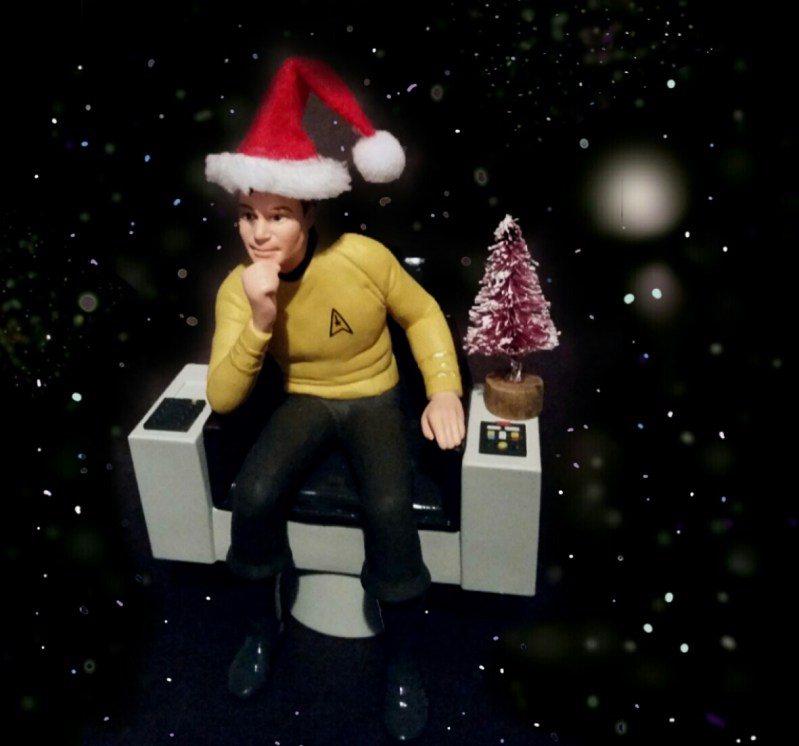 Captain Kirk Christmas tree ornament