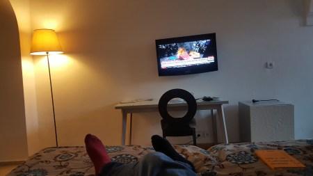 CNN in hotel room. Marrakesh.