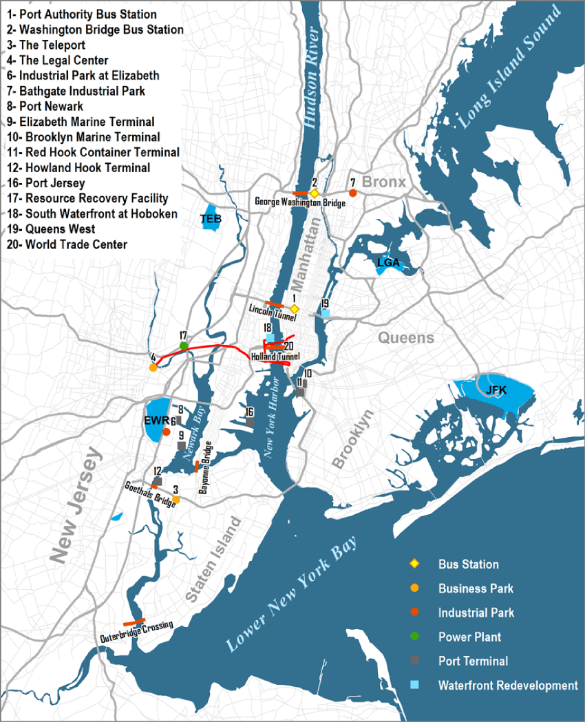 Port Authority Bus Terminal Map : authority, terminal, Facilities, Authority, Jersey, Geography, Transport, Systems