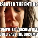 TP XL8 Problem Meme