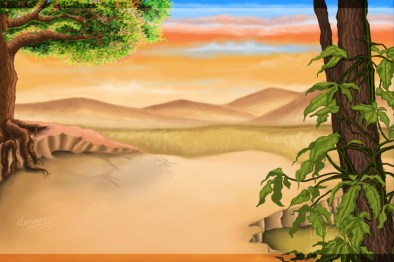 Concept art_Bg painting made in Photoshop.