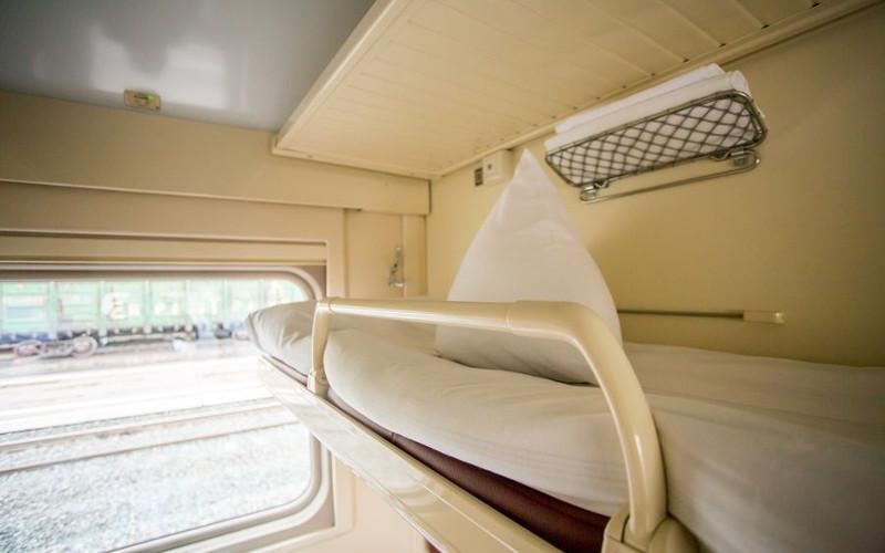 Oberes Bett in der Transsib