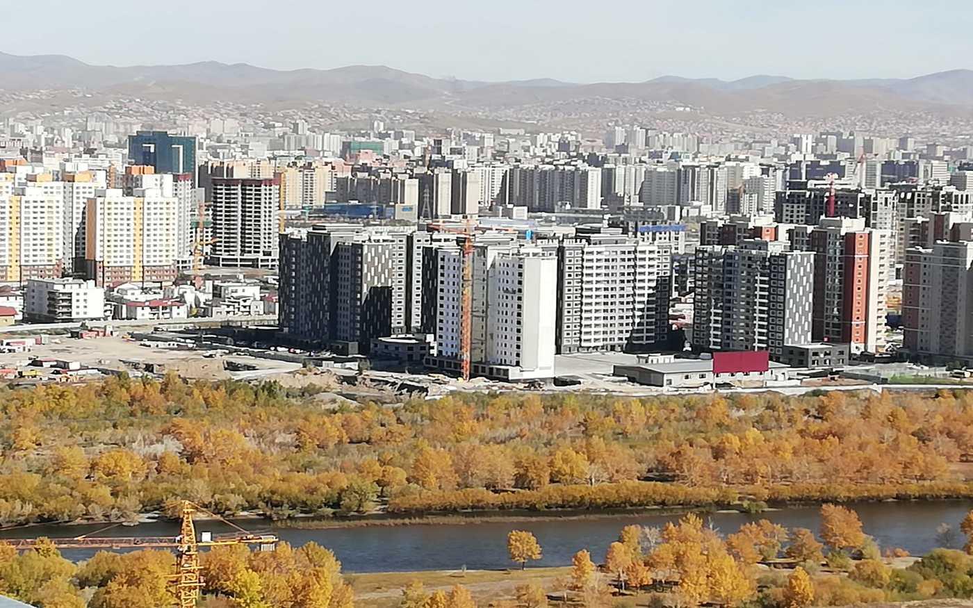 Stadtpanorama von Ulan Bator - Aussichtspunkt auf dem Zaisan Hügel