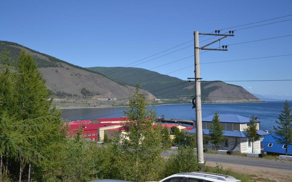 Baikalblick vom Hotel Aurora in Sewerobaikalsk