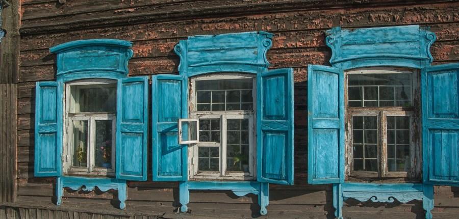 Holzarchitektur in Listwianka
