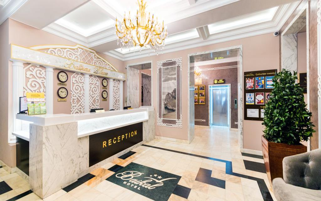 Lobby im Hotel Baikal Plaza in Ulan Ude