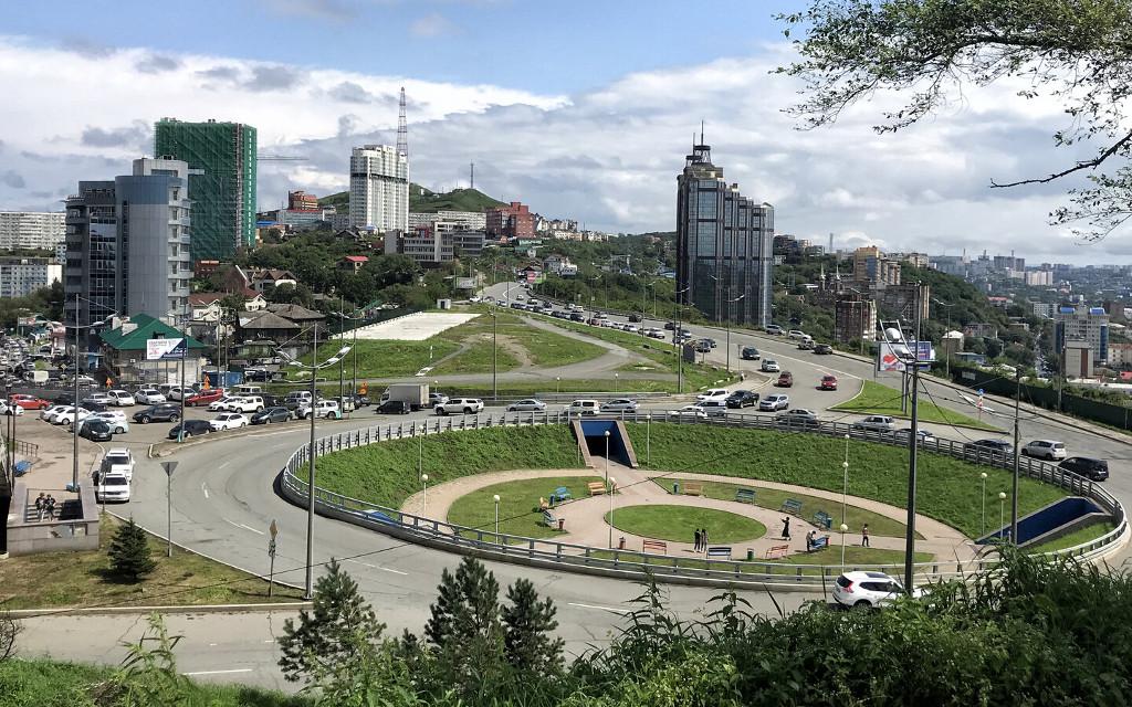 Stadtpanorama von Wladiwostok