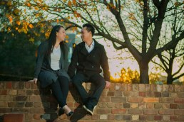 Engagement session with soon to be bride and groom