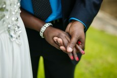 African australian wedding couples wedding rings