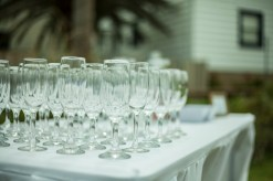 Sydney wedding photography of wine glasses