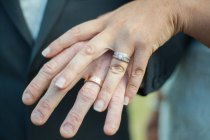 Closeup of sydney wedding couple's rings