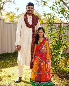 Wedding photographer sydney portrait of an indian father and daughter