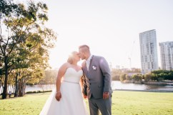 beautiful aussie wedding kissing photography sunset