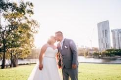 beautiful aussie wedding kissing photography sunset