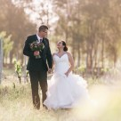 beautiful bride and groom in hunter valley vineyard photography