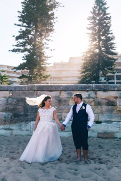 korean bride and aussie groom beautiful wedding at manly beach