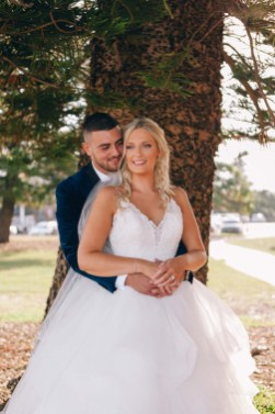 Beautiful australian bride with arabic groom
