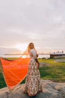 beautiful fijian indian engagement photography sydney