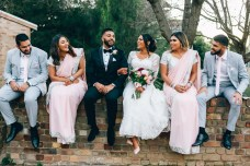 Australian indian bride and groom with bridal party_01