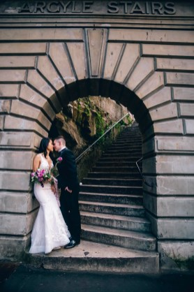 Australian bride and groom at argyle street stairs at the rocks sydney_01