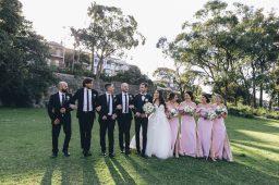 bridal party walking in sydney