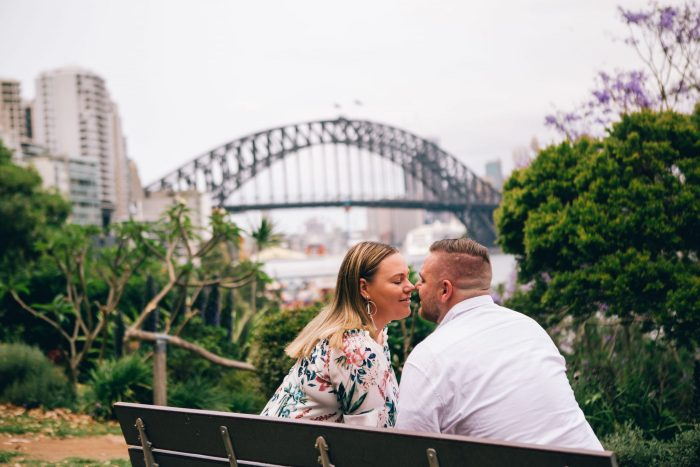 Engagement photoshoot at Wendy Whiteley's Secret Garden Lavender Bay_07