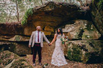Bride and Groom at Wildwood Kangaroo Valley Wedding Venue_01