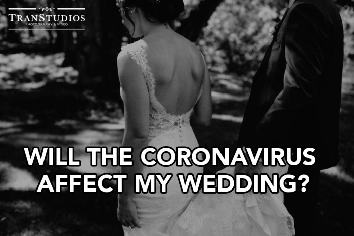 Will the Coronavirus Affect my wedding