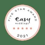 easyweddings award five star transtudios 2021