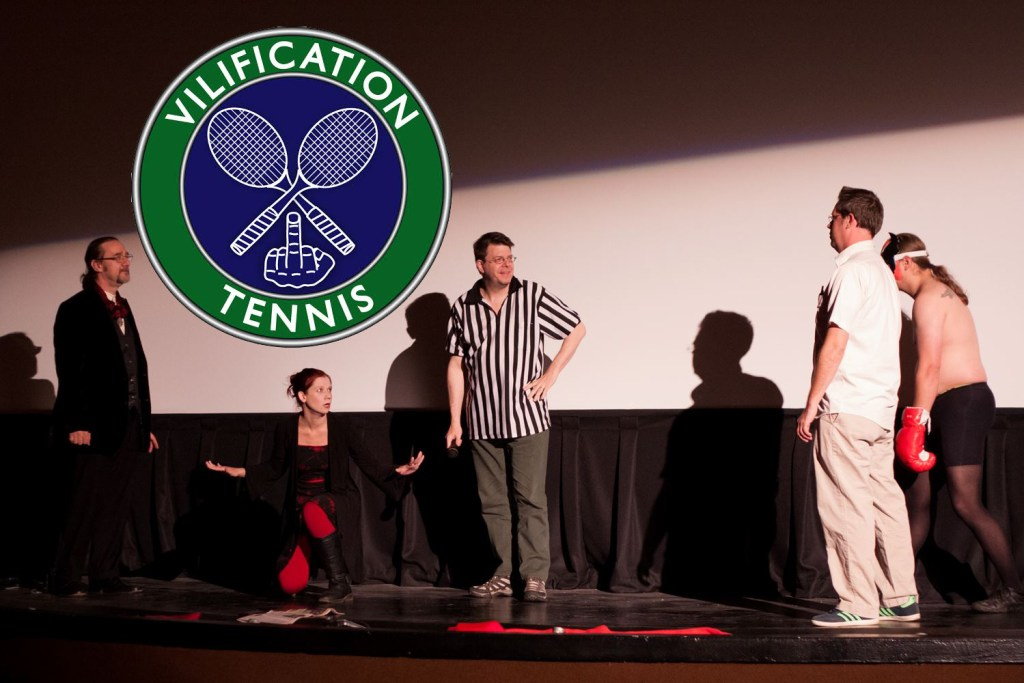 Vilification Tennis performs during Halloween 2014