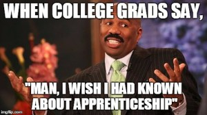 Apprenticeship over debt