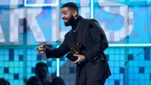 Drake at the 2019 Grammys (Photo by Kevork Djansezian / Getty Images)