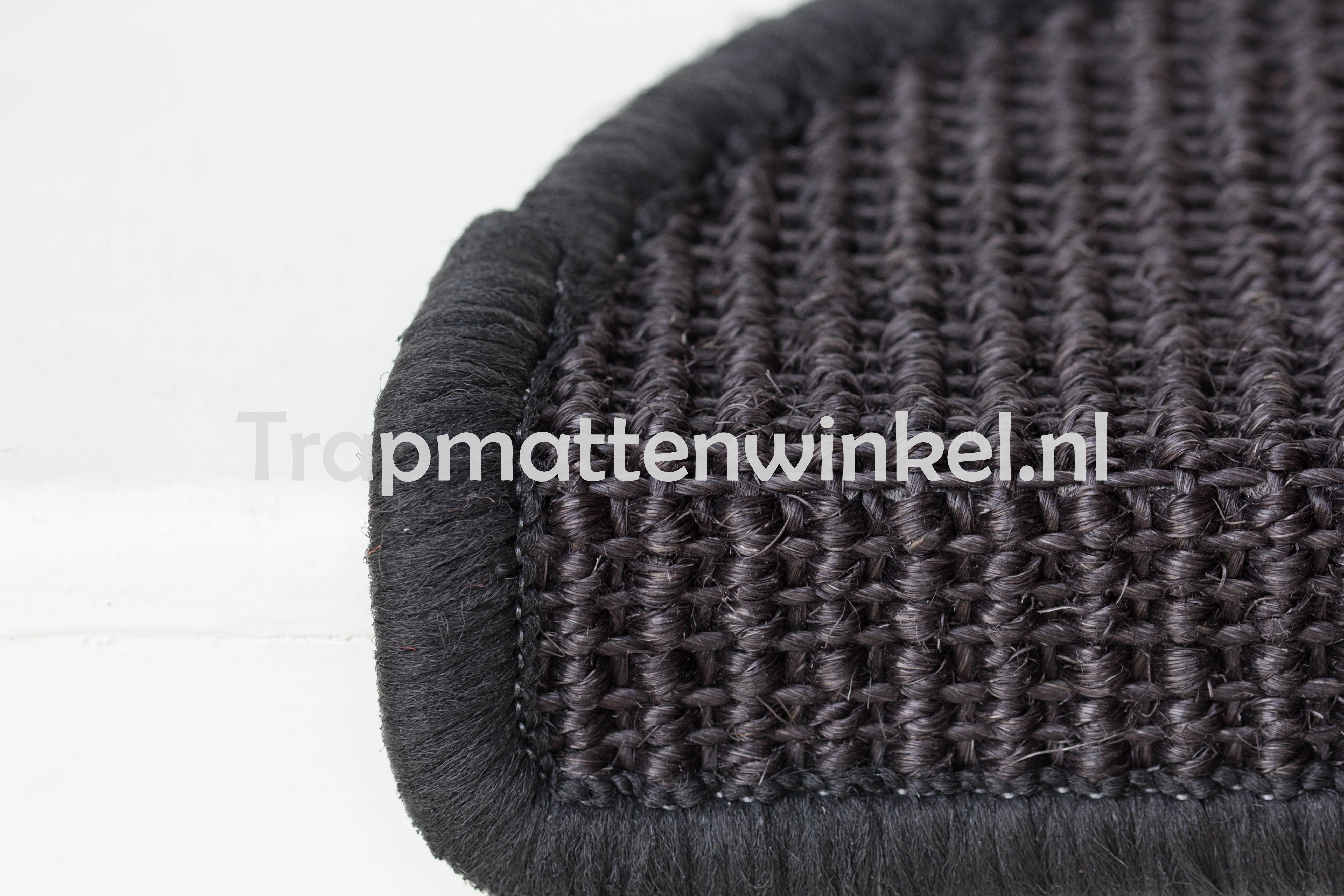 excellent trapmat sisal antraciet with kwantum trapmatten
