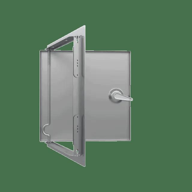 Trappe de visite métallique colorée Tempo Softline Clé carrée trappe de visite metallique ouverte sur mesure softline 360 4 pans 0 13