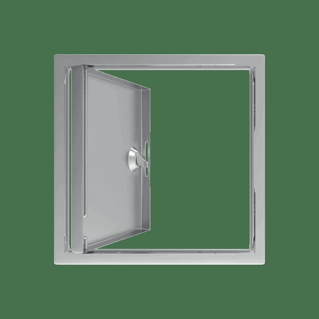 Trappe de visite métallique colorée Tempo Softline Clé cylindrique trappe de visite metallique softline ouverture cle cylindrique 360 derriere