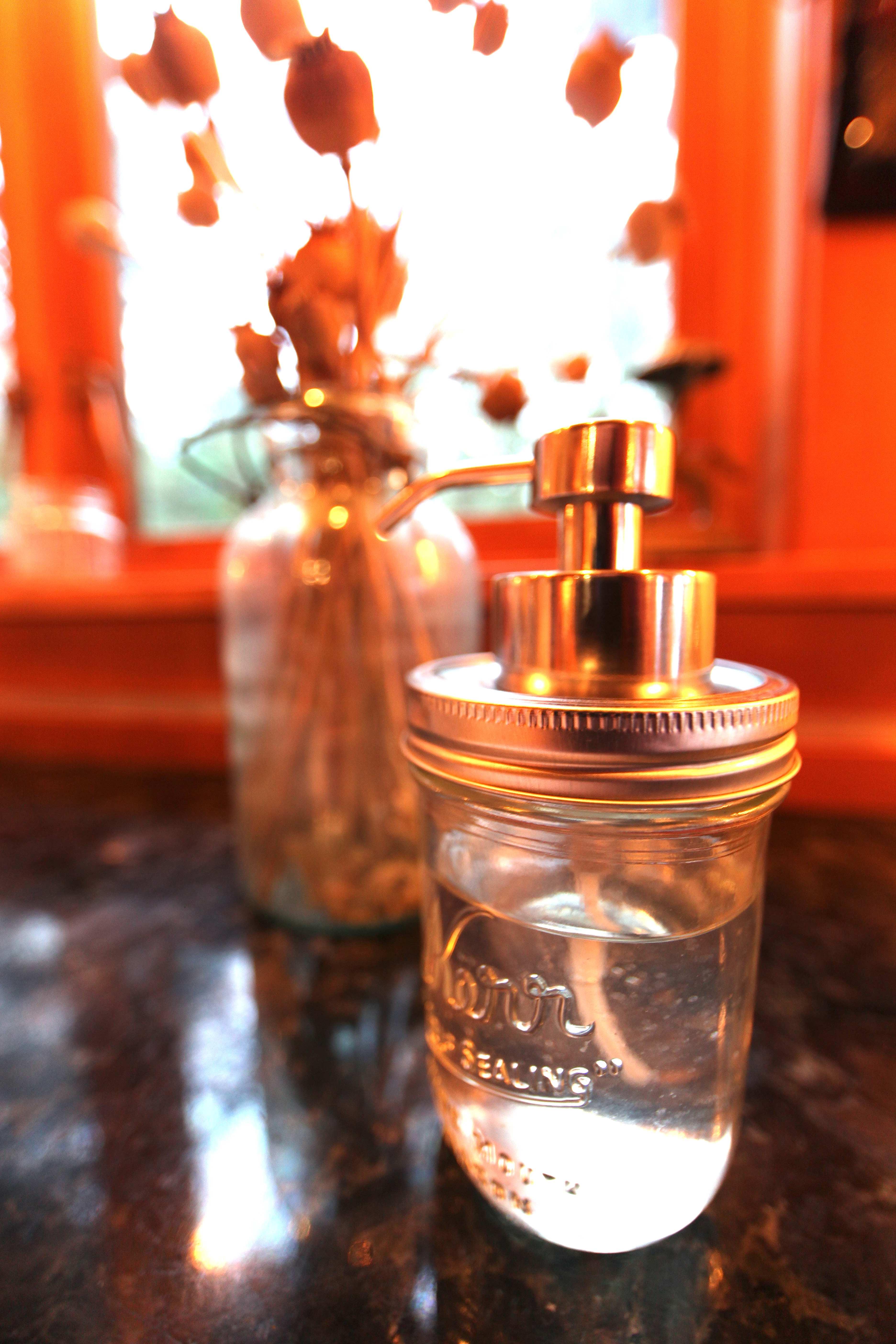 DIY Busters Mason Jar Soap Dispenser  Easy  Trash Backwards Blog