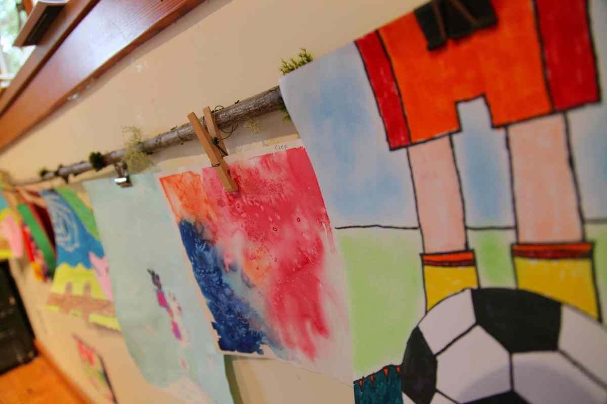 Hang Childrens Art On A Branch  Trash Backwards Blog