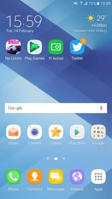 Review of Samsung Galaxy A7 (2017) - Software.  2