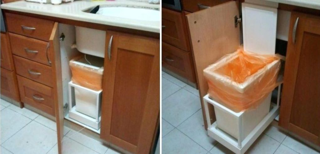Built-In Kitchen Trash Can