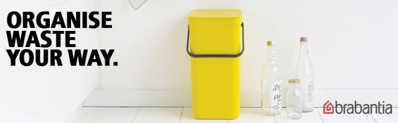 yellow color trash can