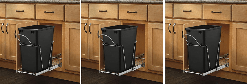 sliding and built-in trash can