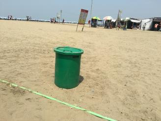 Beach Trash Cans