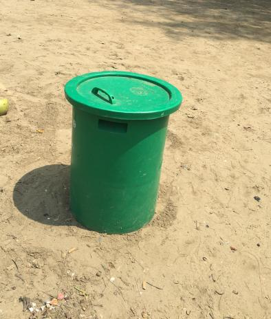Green Trash Cans
