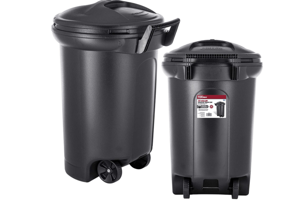 Outdoor Trash Can with wheel