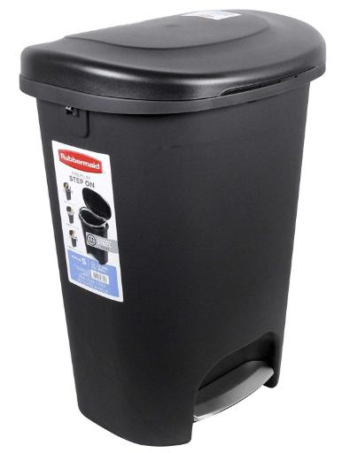 rubbermaid 13 gallon kitchen trash can