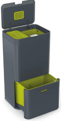 3 compartment trash can