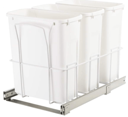3 compartment garbage can