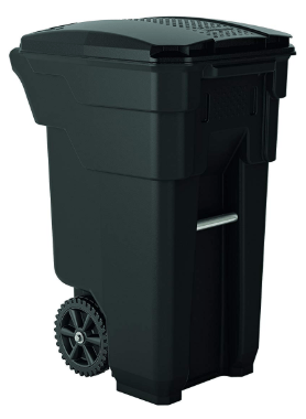 garbage can with wheel
