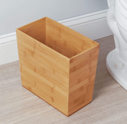 iDesign Formbu Wood Wastebasket