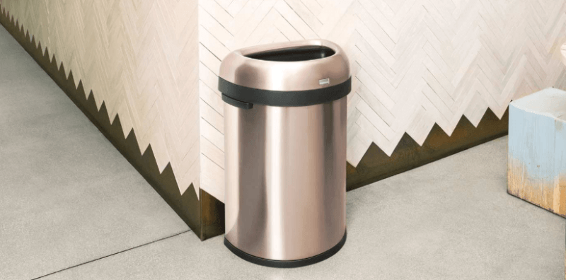 rose gold garbage can